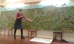 Eliza Trees describes her amazing creation. Jaara Country